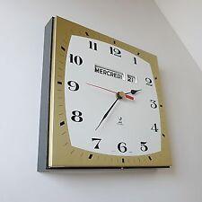 pendule / horloge JAZ electronic vintage deco années CALGIC design 1970 métal