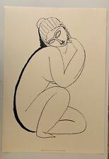 AMEDEO MODIGLIANI,'NUDO ACCOSCIATO,1910-11', RARE 1990's SERIGRAPH
