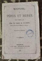 1867 ✤ Manuel des Pères & Mères ✤ M. l'Abbé J.Curot