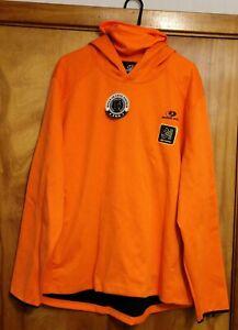 NEW * Men's 3XL XXXL * Mossy Oak Hunter Orange Tech Hoodie w/ Gaiter Zip Pockets