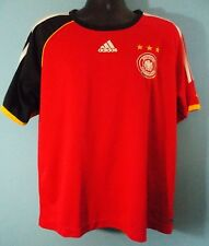 Adidas Deutscher Fussball-Bund Soccer Jersey German Futbol Size XL Red