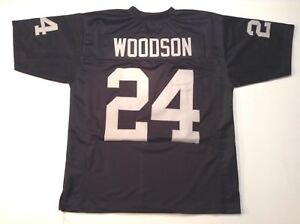 UNSIGNED CUSTOM Sewn Stitched Charles Woodson Black Jersey - 3XL