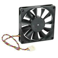 80mm DC 12V 0.50A 5300RPM Cooling Fan PWM Temperature Control for Computer Case