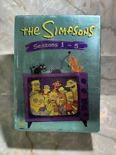 The Simpsons Seasons 1 - 5. DVD Set. 19 DVDs With The First 5 Seasons Full Scree