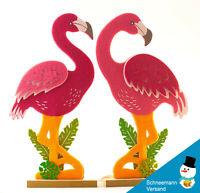 Großes Flamingo Filz Paar Deko Haus Wohnung  Figuren  pink Holz  Geschenk NEU