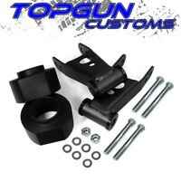 """For 84-01 Jeep Cherokee XJ 2"""" Front + 2"""" Rear Leveling Lift Kit w/ Shackles Pair"""