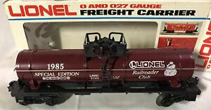 Lionel Railroader Club 6-0782 ~ Special Edition Tank Car ~ NEW IN BOX