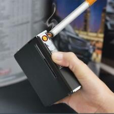 Automatic Cigarette Case Dispenser with Built in Torch Lighter for 20 Cigarettes
