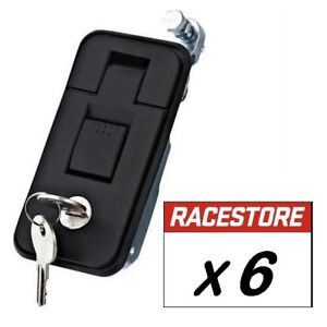 Compression Lock Latch BLACK - SMALL (6 PACK) - Toolbox Trailer Truck Cabinet