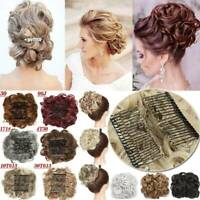 Scrunchies Updo Combs Clip in Bun Cover  Messy Wavy Chignon Hair Piece Extension