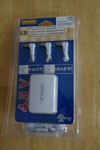 Lemax Lighted  3 Power Adaptor Plugs 4.5 V