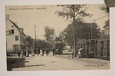alte AK Merxem Oude Barreel  Tramstatie 1915 bei Antwerpen Belgien Strassenbahn