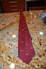RCA  Neck Tie Burgundy and Gold