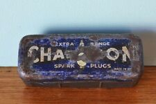 Vintage Champion Spark plugs tin empty