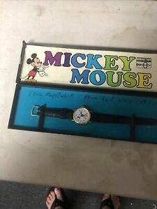 Vintage Bradley Mickey Mouse Watch Walt Disney Productions Swiss Made   with box