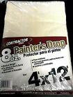 Lot of 4x Contractor Series Painter's Drop Cloth 4' x 12' Medium Weight Runner
