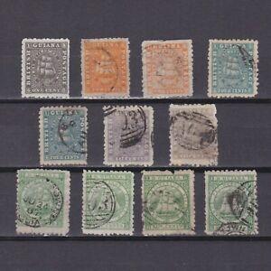 BRITISH GUIANA 1866, SG# 85-103, CV £124, part set, Perf 10, Used
