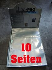 Ultra Pro 9-Pocket Pages Silver Series 10 Seiten Pages NEU