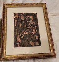 Nathaniel Pousette-Dart whitney painting Framed MOMA WPA signed TWICE