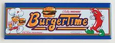 Burgertime Marquee FRIDGE MAGNET (1.5 x 4.5 inches) arcade video game