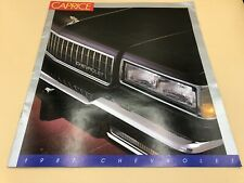 87 1987 CHEVROLET Chevy Caprice Classic Dealer Sales Brochure Impala Book