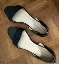 "Adrienne Vittadini Sz 11 M Black Flat Sandals ""Aloha"" w/Great Fit GORGEOUS!"