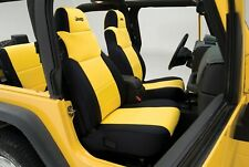 2003-2006 Jeep Wrangler TJ Coverking Yellow Neoprene Custom Front Seat Covers