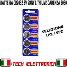 CR2032 sony 3V LITIO PILA LUNGA DURATA BATTERIA SONY IMBALLO ORIGINALE SCAD 2030
