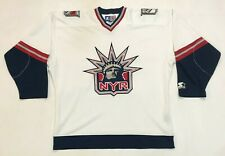 Vintage Starter NHL New York Rangers Lady Liberty Hockey Jersey Adult M White