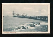 South Africa PORT ELIZABETH North Jetty with Tall Sail Ship Used 1904 u/b PPC