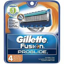 Gillette Fusion Proglide Men Razor Blade Refills 4 Count Factory Sealed