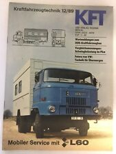 Kraftfahrzeugtechnik KFT 12/1989 IFA L60 L 60 LKW Sammeln Rar Geschenk Alt DDR