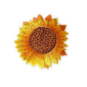 Sunflower Iron On Patch Motif Patches Applique Badges Fun Yellow 6cm X 6cm P378