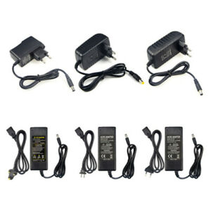 100-240V AC to DC Power Supply Charger Transformer Adapter 12V 1A 2A 3A 5A 6A 8A
