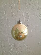 Antique Mercury Glass Christmas Ornament Snow Capped Made In Usa