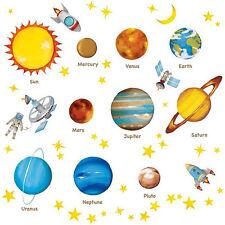 Wandsticker Planeten Sterne Weltraum Sonnensystem Erde Mars Jupiter Saturn