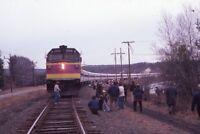 Railroad Locomotive Passenger Train Massachusetts Bay Auth Original Photo Slide