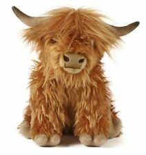 Highland Cow with Sound Scottish Plush Soft Toy - 30cm - Living Nature Cute NEW
