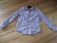 LADIES CUTE AQUA CHECKED COTTON LONG SLEEVE BUTTON TOP BY POLITIX SIZE L 16/18
