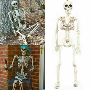 Large Poseable Full Life Size Human Skeleton Prop Halloween Party Decoration HOT