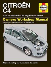 Haynes CITROËN C4 BENZINA & DIESEL 2004-2010 manuale 5576 NUOVO