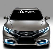 """Honda Graffiti Windshield Text Lettering 4"""" X 40"""" Vinyl Decal Sticker jdm illest"""