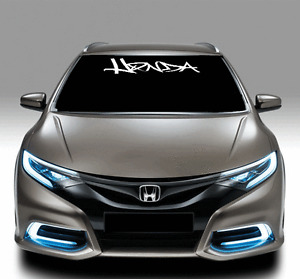 Windshield Decal Sticker for HONDA CIVIC ACCORD Vinyl JDM Emblem Logo Graffiti