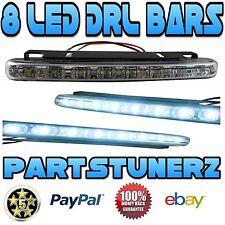 8 SMD LED DRL DAYTIME RUNNING LIGHTS STRAIGHT BAR WHITE FOG LIGHT KIT 4 LINCOLN