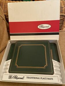 Pimpernel Classic Regal Ivy Green Placemats Set of 8 Cork Backed Boxed