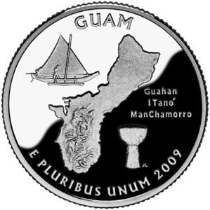 2009 D - Guam U.S. Territorial Quarter Dollar Coin