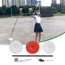 Badminton Trainer Telescopic Elastic Rod Rebound Power Base Practicing Set