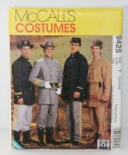 McCall's Pattern 9425 Men's Civil War Frontiersman Costumes Sz Small-Med. UNCUT