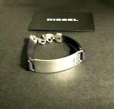 Bracelet Diesel Homme Cuir Argent Neuf