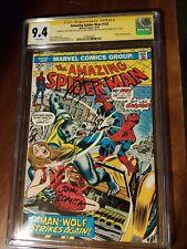 Amazing Spider-man 125 cgc ss 9.4 white pgs Romita Thomas Conway origin Man-wolf